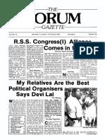 The Forum Gazette Vol. 2 No. 19 October 5-19, 1987