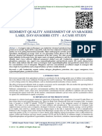SEDIMENT QUALITY ASSESSMENT OF AVARAGERE LAKE, DAVANAGERE CITY - A CASE STUDY