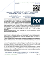 "SELF AUTHENTICATION"" AN APPROACH FOR PASSWORD FREE AUTHENTICATION"