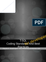 t SQL Coding Standards and Best Practices for Developers