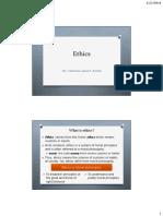 Handout Ethics 1-2 Introduction