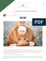 The Missing Prescription in Pre and Postnatal Care