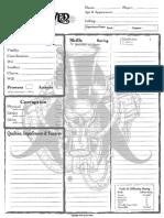 Unhallowed Metropolis Character Sheet
