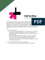 HeForShe FAQ
