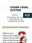Ppt2-Meaning of Law Classification-lecturer