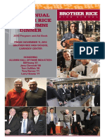 Brother Rice Alumni Dinner Ad Book 2016