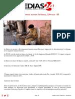 Développement humain Maroc
