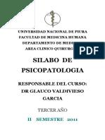 Silabo de Psicopatología-2011