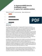 VIH Profilaxis Ante Exposicion en Adolescente y Niños