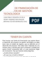 Fuentes de Financiación de Proyectos de Gestión Tecnologica