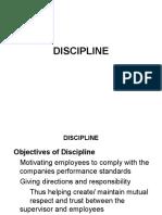 DISCIPLINE-Preventive & Corrective