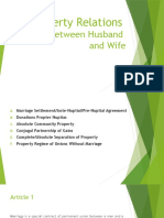 PRF Report - Property Relations Between Husband and Wife