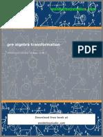 Pre Algebra Transformation