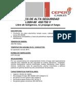 Cables de Alta Seguridad - LS0H-80