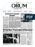 The Forum Gazette Vol. 2 No. 20 October 20 - November 5, 1987