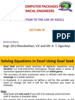 Excel Lecture 3