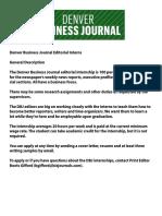 Intern Job Description- Denver Business Journal