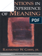 1999 Intentions in the Experience of Meaning (1999)