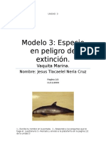 Modelo 3 Especie en Extincion Jesus Tlacaelel Neria Cruz