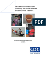 Best Practice Recommendations for Manufacturing Ceramic Pot Filters June2011