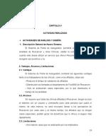Informe Pasantías Capítulos v y VI