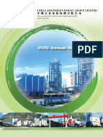 China Shanshui Cement Group Ltd - Form Annual Report(Apr-29-2016)