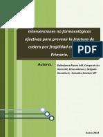 Intervenciones No Farmacológicas Efectivas Para Prevenir La Fractura de Cadera Por Fragilidad en AP