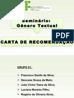 Seminário Gênero Textual - Carta de Recomendação - 23-10-2016