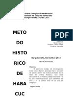 Metodo HIstorico de Habacuc
