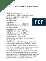 TABLA DE DESCRIPCIÓN DE LOS DIOSES