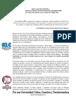 Declaración Final VI CNEU