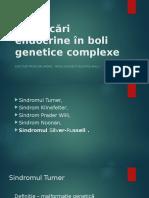 tulburari endocrine in bolile genetice complexe