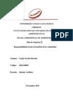 Responsabilidad Social Plan de Negocios II PDF II Tarea de Rsu II Unidad