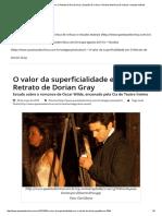 O Valor Da Superficialidade Em O Retrato de Dorian Gray _ Questão de Crítica – Revista Eletrônica de Críticas e Estudos Teatrais