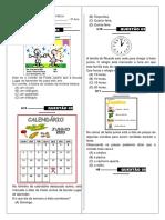 Simulado de Matemática para o Terceiro Ano do Ensino fundamental 1