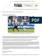 Improvisado Na Lateral Do Cruzeiro, Lucas Romero Tem Desempenho Elogiado Por Mano - Superesportes
