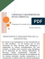 Ciencias y Matemáticas en El Párvulo
