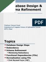 Database Design Schema Refinement