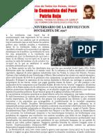 VIVA EL 99° ANIVERSARIO DE LA REVOLUCION SOCIALISTA DE 1917.doc