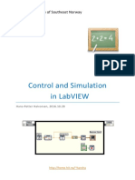 Control and Simulation in LabVIEW