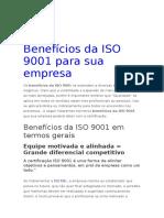Benefícios da Iso 9001 - Qualidade.docx
