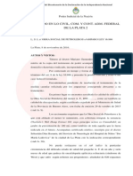 Fallo juzgado federal de La Plata