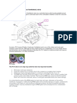Positive Crankcase Ventilation Valve _PCV | Carburetor