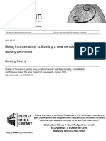Being in Uncertainty-Cultivating a New Sensibility in Military Education--27 Aug 2015 Final
