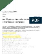 As 50 Perguntas Mais Frequentes Em Entrevistas de Emprego _ EXAME