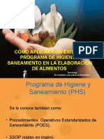 Programa Higiene y Saneamient en Alimentos