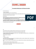 Guia Especial de Estudos (40 Dias) Para o XXI Exame de OrdemCronograma