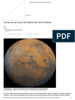 Europa Sai Em Busca de Indícios de Vida Em Marte