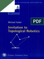 [Michael Farber] Invitation to Topological Robotic