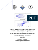 Cyclic Simple Shear Testing of Navada Sand for Peer Center Project Ucb-gt-0001